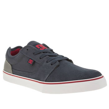 Mens Dc Shoes Navy & Grey Tonik Trainers