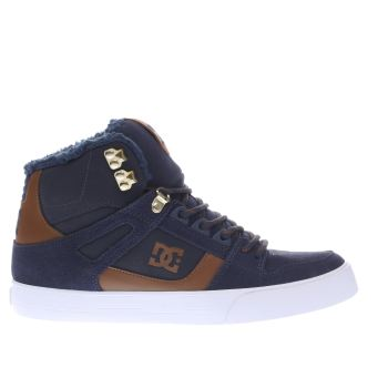 Dc Shoes Navy Spartan Hi Wc Winterised Trainers