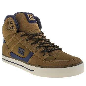 Dc Shoes Tan Spartan Hi Winterise Shearling Trainers