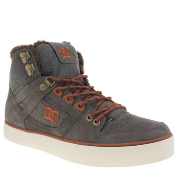 Mens Dc Shoes Grey Spartan Hi Wc Trainers