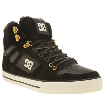 Dc Shoes Black & Green Spartan Hi Wc Winterised Trainers