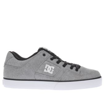 Mens Dc Shoes Light Grey Pure Tx Se Trainers