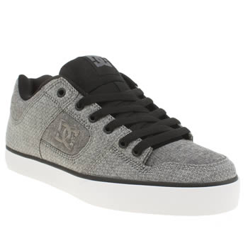 Mens Dc Shoes Grey & Black Pure Tx Se Trainers