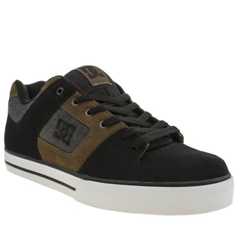 Mens Dc Shoes Black & Brown Pure Tx Se Trainers