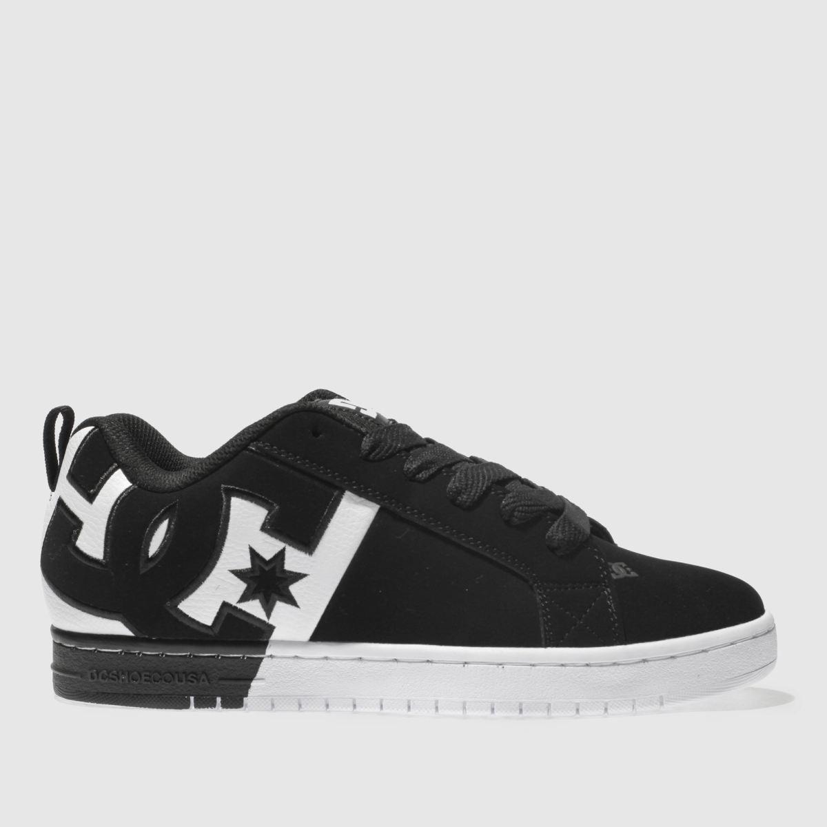 Dc Shoes Black & White Dc Court Graffik Sq Trainers