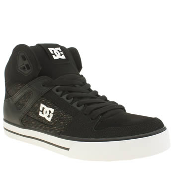 Mens Dc Shoes Black Spartan High Wc Se Trainers