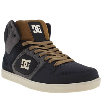 mens dc shoes navy union hi trainers