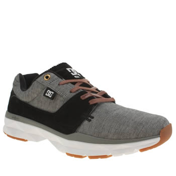Dc Shoes Grey & Black Player Se Trainers