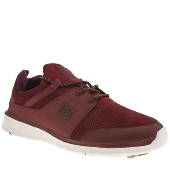 Dc Shoes Burgundy Heathrow Prestige Mens Trainers