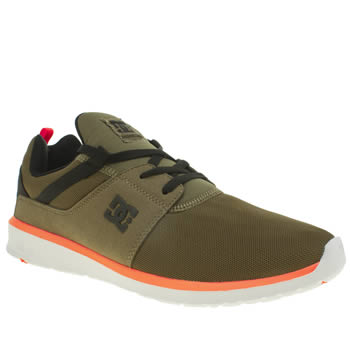 Dc Shoes Dark Green Heathrow Mens Trainers