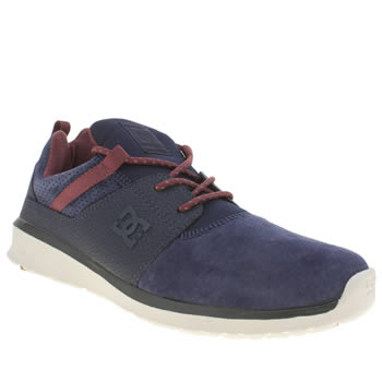 Dc Shoes Navy & Burgundy Heathrow Le Trainers