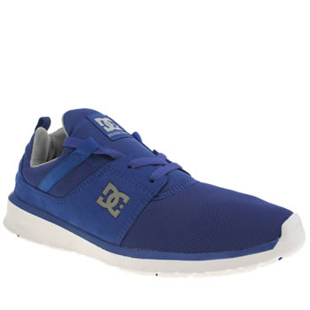Mens Dc Shoes Blue Heathrow Trainers