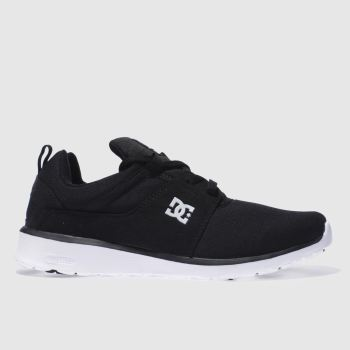 Dc Shoes Black & White Heathrow Le Trainers