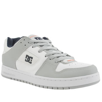 Mens Dc Shoes White & grey Manteca Trainers