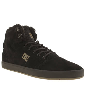 Dc Shoes Black & Gold Crisis High Winterised Trainers