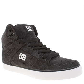DC SHOES BLACK SPARTAN HIGH WC TX SE TRAINERS