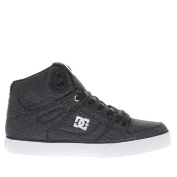 Dc Shoes Black & Grey Spartan High Wc Tx Se Mens Trainers
