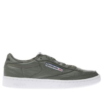 Reebok Khaki Club C 85 Mens Trainers