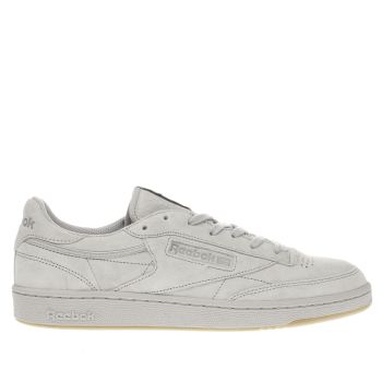 Reebok Light Grey Club C 85 Tg Mens Trainers
