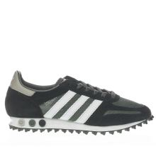 Adidas Black & Green La Trainer Og Mens Trainers