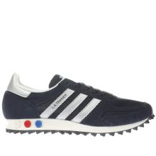 Adidas Navy & White La Trainer Og Mens Trainers