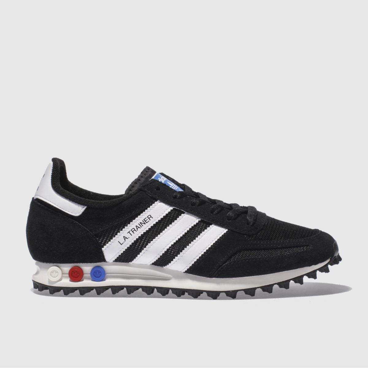 adidas black & white la trainer trainers
