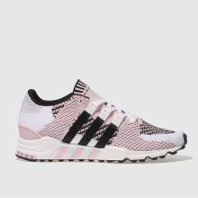 Adidas White & Pink Eqt Support Rf Primeknit Mens Trainers
