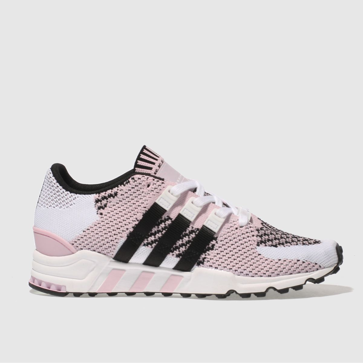 adidas white & pink eqt support rf primeknit trainers