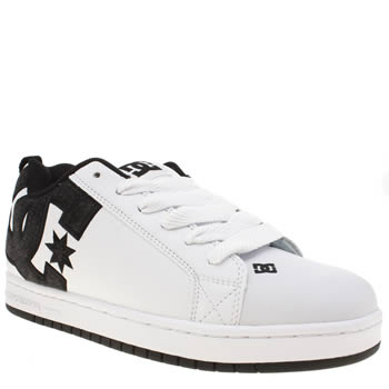 Dc Shoes White & Black Court Graffik Se Trainers