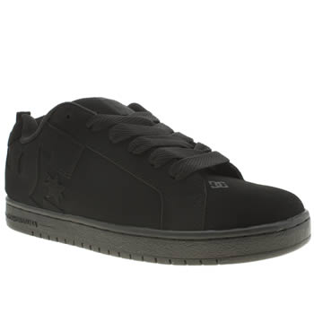 mens dc shoes black court graffik trainers