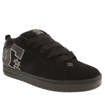 mens dc shoes black dc court graffik se trainers