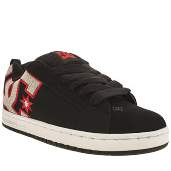 Mens Dc Shoes Black & Red Court Graffik Se Trainers
