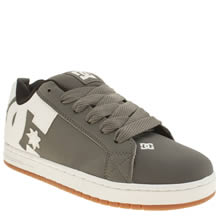 Dc Shoes Grey Court Graffik Se Mens Trainers