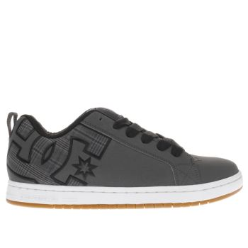 Dc Shoes Grey Court Graffik Mens Trainers