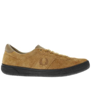 Fred Perry Tan Authentic Tennis Mens Trainers