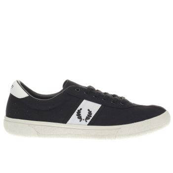 Fred Perry Black Authentic Tennis Mens Trainers
