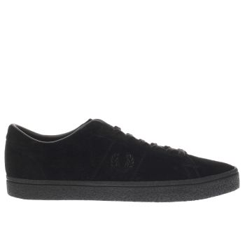 Fred Perry Black Spencer Suede Crepe Trainers