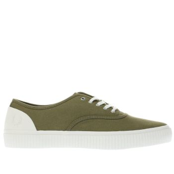 Fred Perry Khaki Barson Mens Trainers