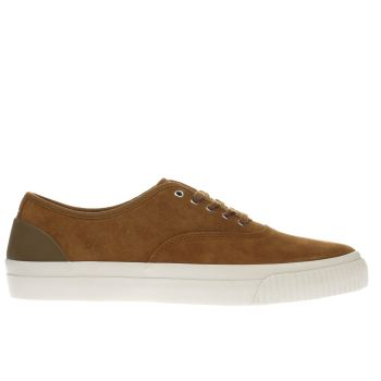 Fred Perry Tan Barson Suede Mens Trainers
