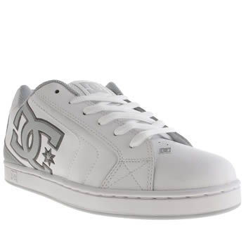 Mens Dc Shoes White Net Trainers