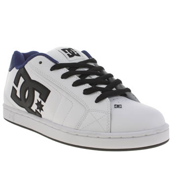Mens Dc Shoes White & Navy Net Trainers