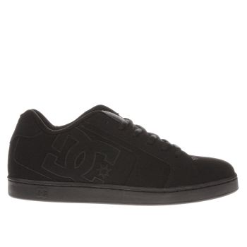 Mens Dc Shoes Black Net Trainers