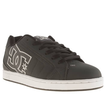 Mens Dc Shoes Dark Grey Net Trainers