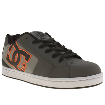 Dc Shoes Grey & Black Net Trainers