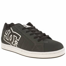 Dc Shoes Grey & Black Net Mens Trainers