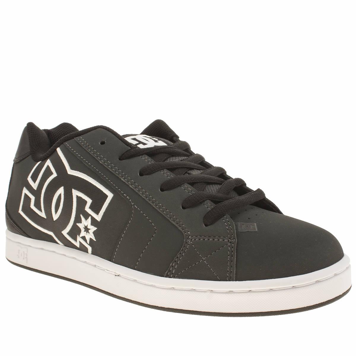 dc shoes Dc Shoes Grey & Black Net Trainers