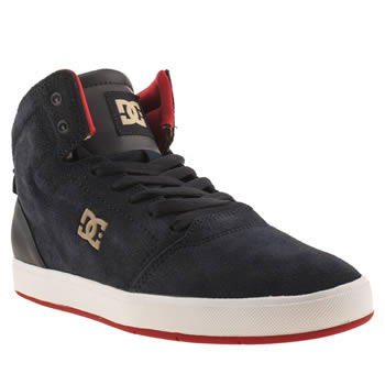 Mens Dc Shoes Navy & Red Crisis Hi Trainers