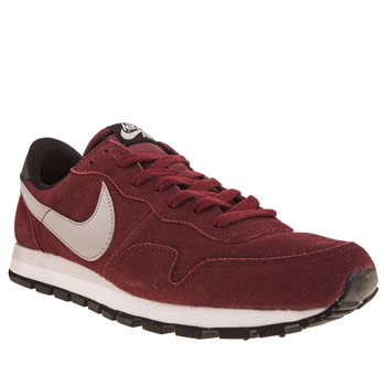 mens nike burgundy pegasus 83 trainers