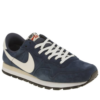 Nike Navy & White Pegasus 83 Trainers