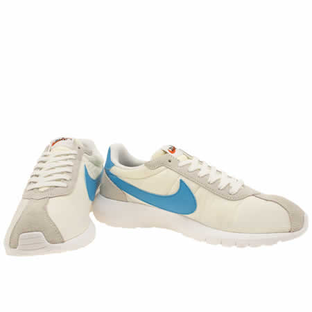 vferi Mens White & Blue Nike Roshe Ld1000 Trainers | schuh